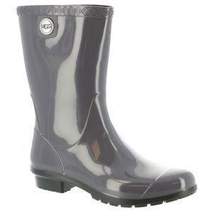 UGG Sienna Rain Boot in Seal Rare-Size 10